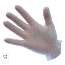A905 Vinyl egyszerhasználatos kesztyű, púdermentes fehér (100 db/doboz)
