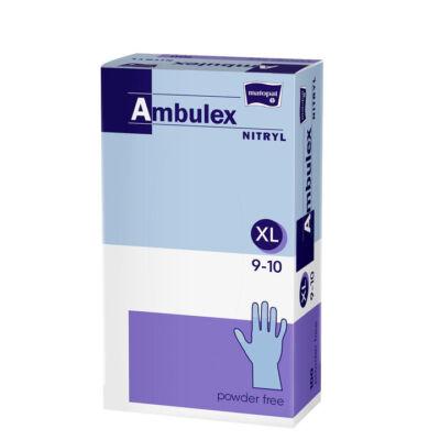Ambulex Nitryl egyszerhasználatos kesztyű, púdermentes (100 db/doboz)