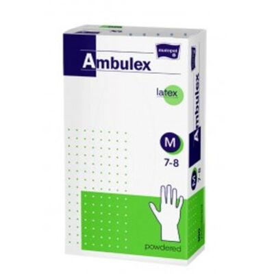 Ambulex Latex egyszerhasználatos kesztyű, púderezett (100 db/doboz)