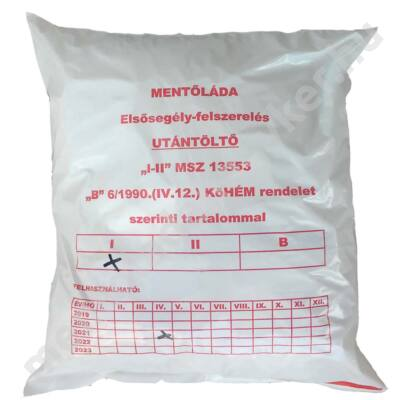 """MU01 """"I"""" Munkahelyi elsősegély doboz utántöltő (1-30 főig)"""