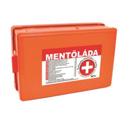 (MF01) Falra szerelhető elsősegély felszerelés, Mentőláda (1-30 főig) narancs
