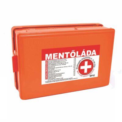 (MF02) Falra szerelhető elsősegély felszerelés Mentőláda narancs (31-50 főig)