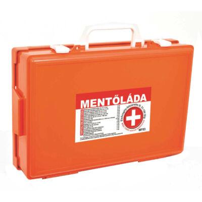 (MF03) Falra szerelhető Elsősegély felszerelés - Mentőláda (51-100 főig) narancs