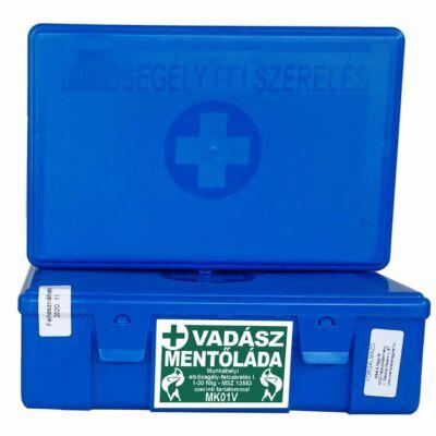 (MK01V) Vadász mentőláda elsősegély felszerelés (1-30 főig) kék