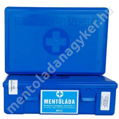(MK02) Munkahelyi elsősegélyfelszerelés (31-50 főig) kék