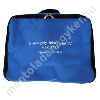 (MK04) Munkahelyi elsősegély felszerelés (101-200 főig) kék